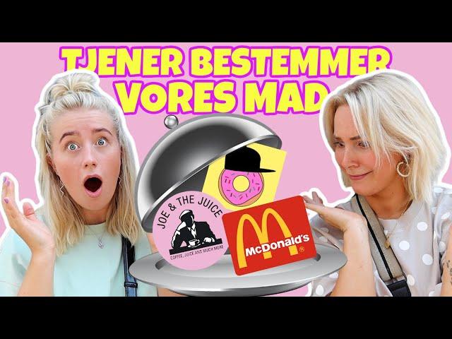 TJENER BESTEMMER VORES MAD EN HEL DAG! ft. Nanna og Max