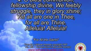 """For All the Saints,"" by the Lutheran Quartet"