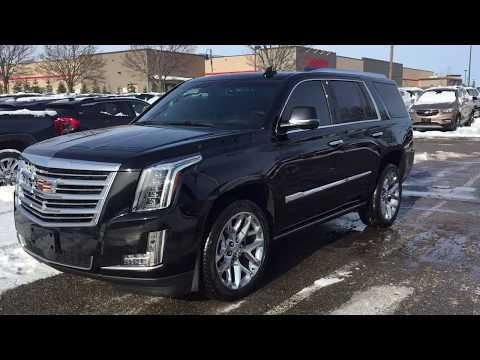 Pre Owned 2018 Cadillac Escalade Platinum Power Running Boards 3 Screen Blu Ray Black Oshawa #Y2737