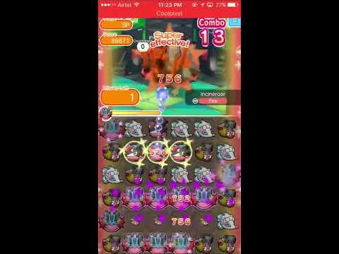 Pokemon Shuffle : Incineroar Competition Run #1 (May 24, 2017 - May 30, 2017, 112k score)