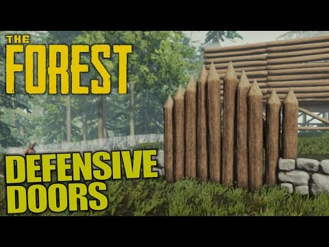 DEFENSIVE DOORS   The Forest   Let's Play Gameplay   S13E11
