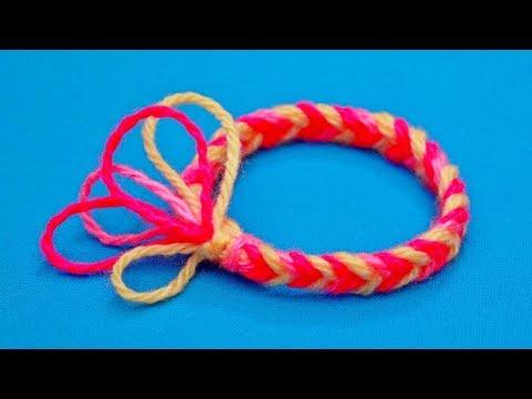 Как сплести простой браслет из ниток