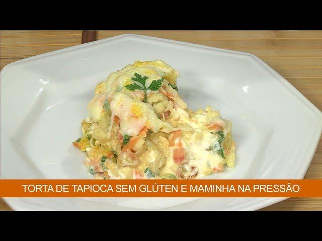 Torta de Tapioca sem Glúten e Maminha na Pressão com Purê de Batatas