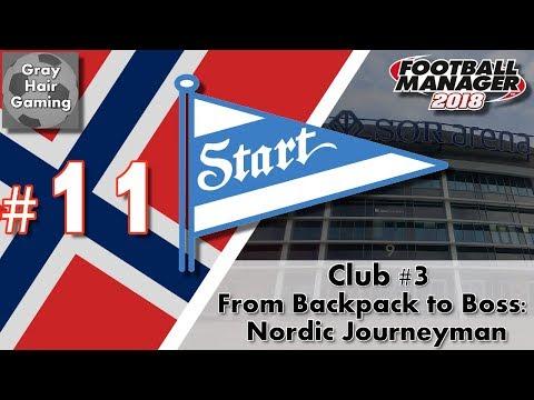 FM18 Journeyman - C3 EP11 - Transfers & First Eliteserien Game - IK Start - From Backpack to Boss