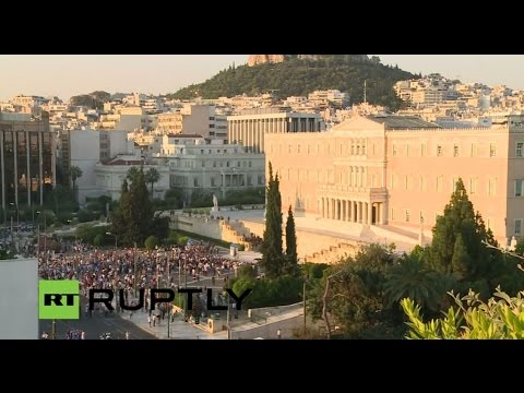 LIVE: 'No' rally descends on Syntagma square against creditors' 'blackmail'