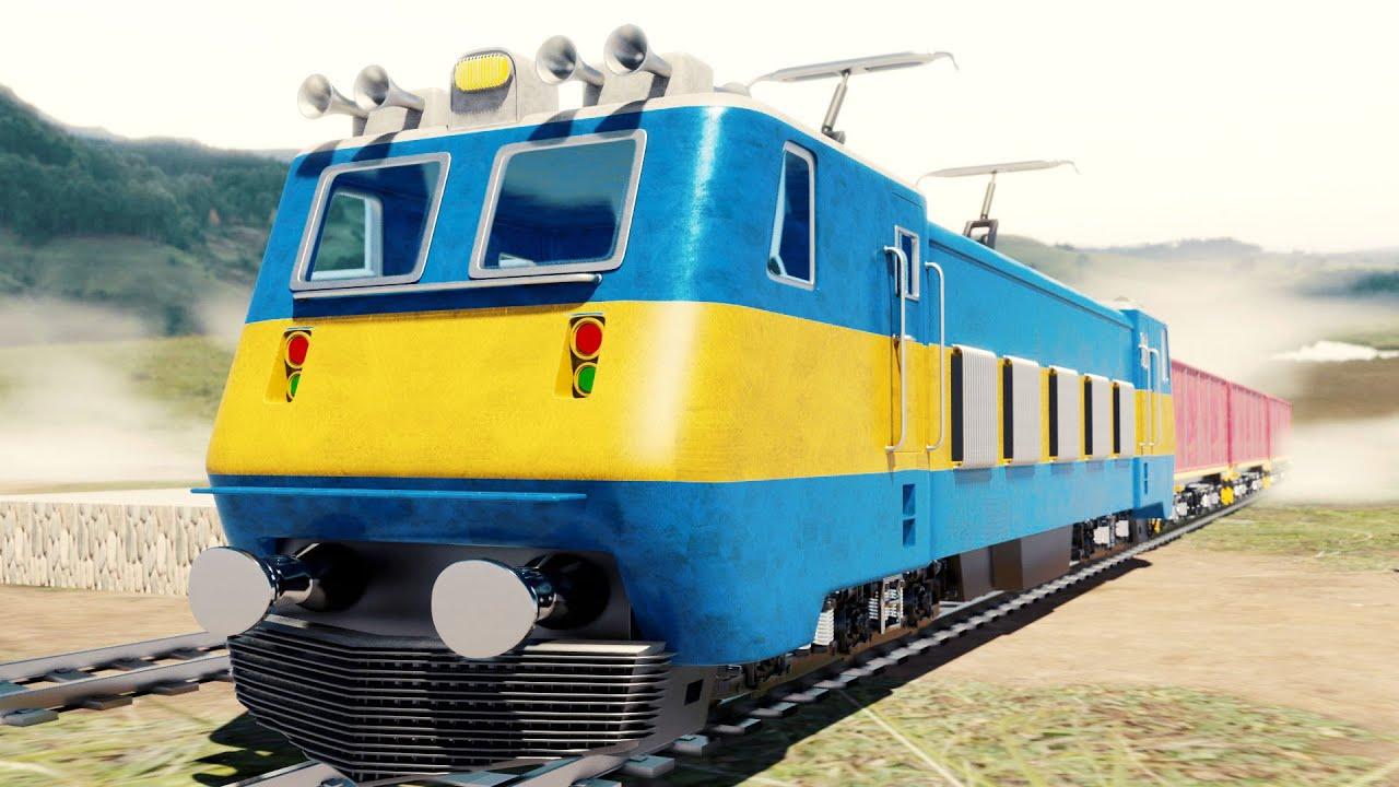 Lego Train Bridge Fail Cartoon - Cartoon for Kids - Choo choo train kids videos