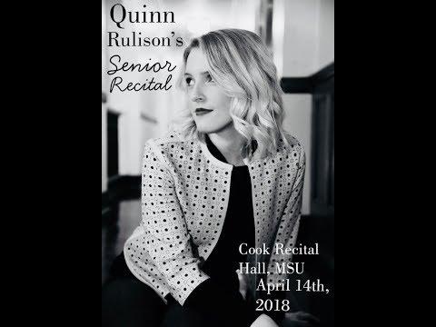 Quinn Rulison's Senior Recital 2018