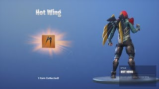 *UNLOCKING* FREE 'HOT WING' Fortnite Back Bling After Collecting The NEW FORTBYTE Chip