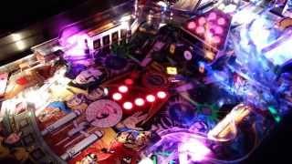 Star Trek Pinball (DE) 25th Anniversary (1991) w LEDs - Quick Demo