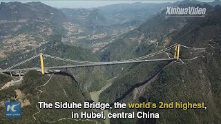 Baixar Breathtaking! Aerial view of world's 2nd highest bridge in China