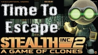 Time To Escape--Stealth Inc 2: A Game of Clones PS4 Gameplay