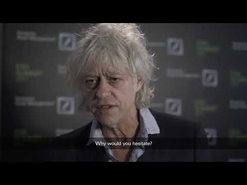 Celebrated Irish singer and human rights activist, Bob Geldof, addressing fiduciary duties