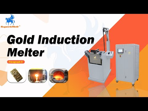 How to melt down gold: 10-50kg chain tilting induction melting machine
