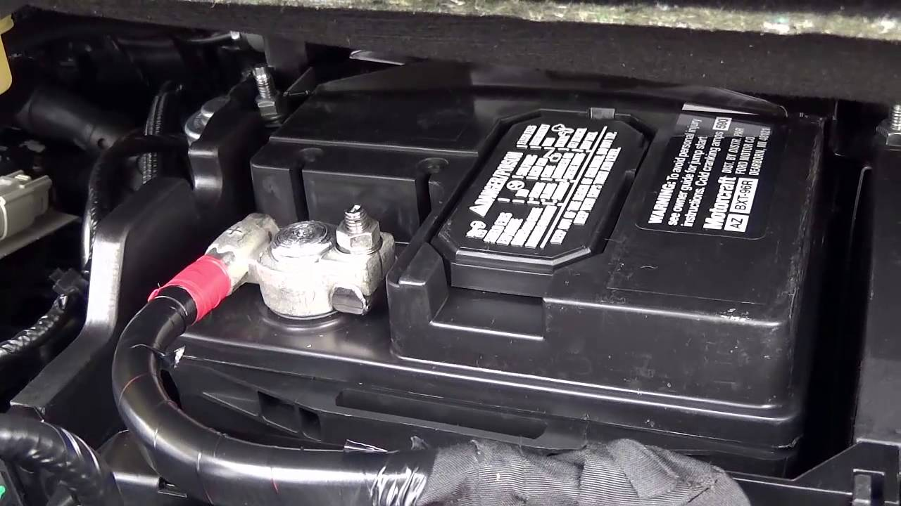 2013 2015 Ford Escape Battery Location Where Is The Wiring Terminals Located On A 13 14 15 Youtube