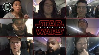 Star Wars: The Last Jedi Trailer Reaction at 35,000 Feet - Inside an Airplane!
