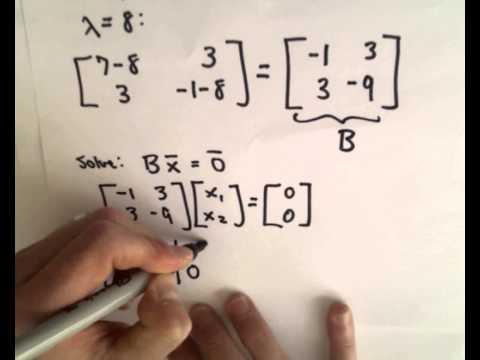 ❖ Finding Eigenvalues and Eigenvectors : 2 x 2 Matrix Example ❖