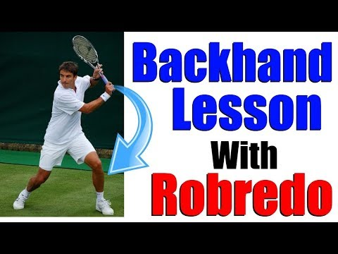 Tennis Backhand Lesson With Tommy Robredo