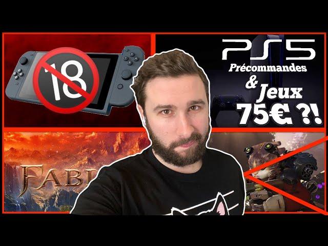 PS5 Préco & Jeux à 75€ 🔥 La Nintendo Switch du Plaisir🔞 Fable, Kanye West Président & Echec Crucible