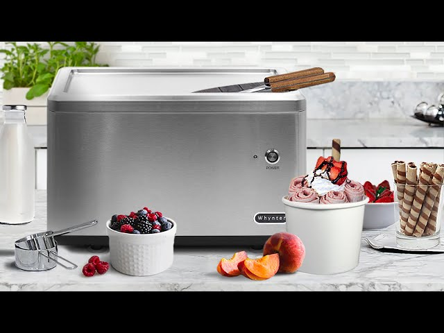 ICR-300SS Whynter Portable Instant Ice Cream Maker Frozen Pan Roller in Stainless Steel