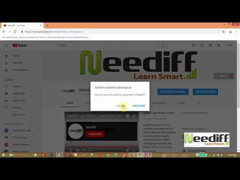 How to Make YouTube Popup Subscribe Button | neediff.info