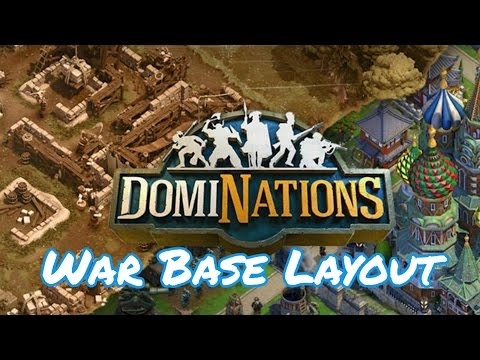 DomiNations : War Base Layout :  Industrial Age (Alliance War)