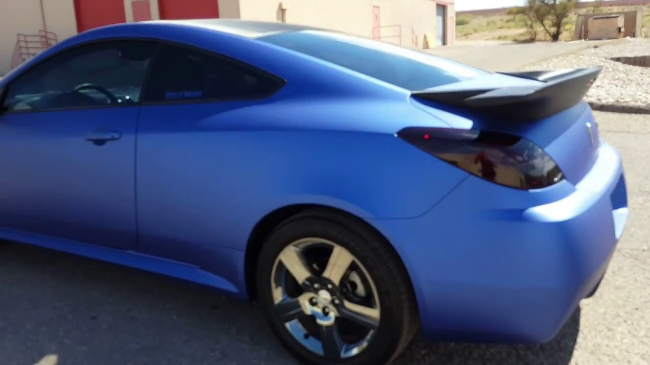2008 pontiac g6 gxp matte metallic brilliant blue carbon fiber vinyl wrap youtube