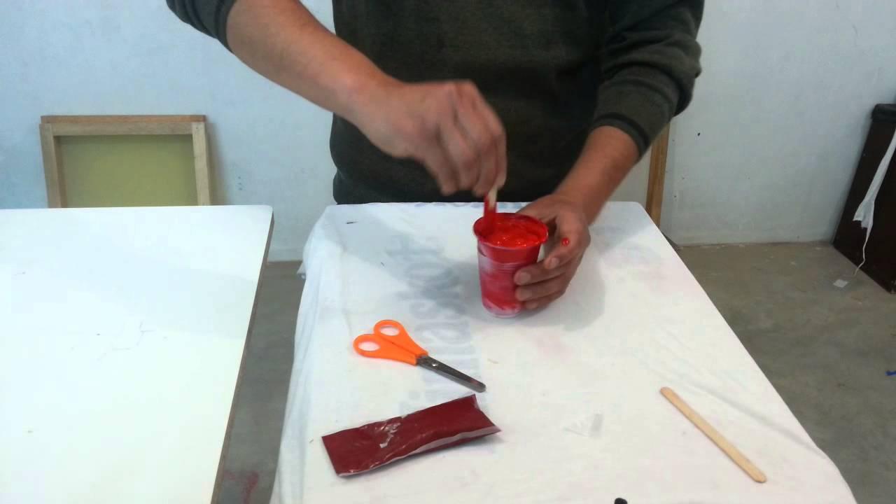 Como preparar pintura al agua serigrafia youtube - Pintura acrilica al agua ...
