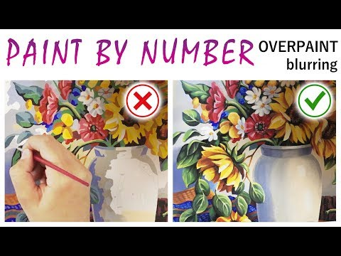 """""""Overpainting blurring"""" way for smoothing color edges on paint by numbers🎨 Color blend art tip"""