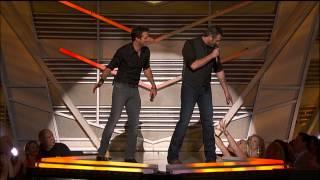 blake shelton luke bryan discuss luke s jeans 2013 acm awards