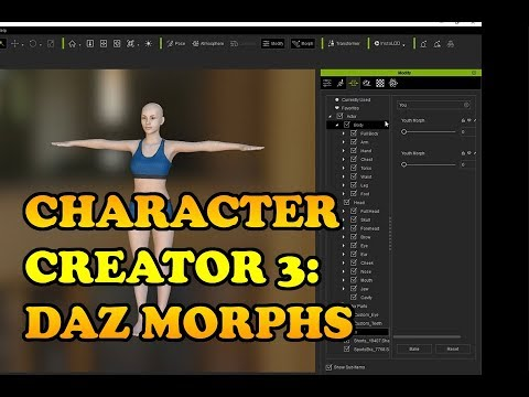Character Creator 3: Morphs from DAZ to CC3 to Unity