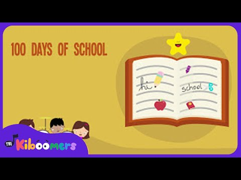 100th Day of School Song  100 Days of School  Lyric   The Kiboomers