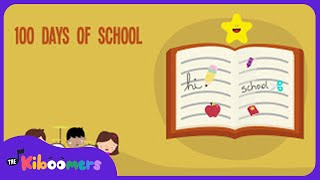 100th Day of School Song | 100 Days of School | Lyric Video | The Kiboomers