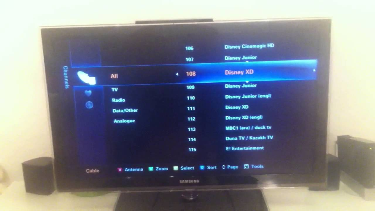 Samsung Series 6 TV - how to move a channel - change channel number