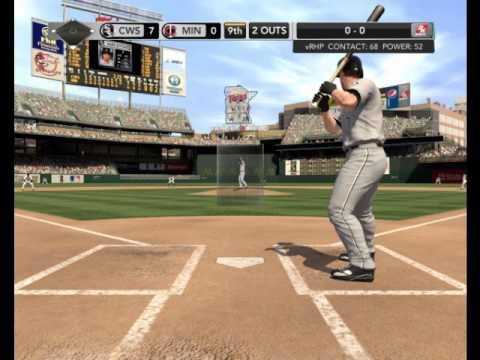 MLB 2K10 Gameplay (John Danks' Perfect Game)