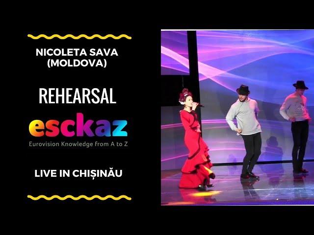 ESCKAZ in Chișinău: Nicoleta Sava - Esencia del Sur (rehearsal)