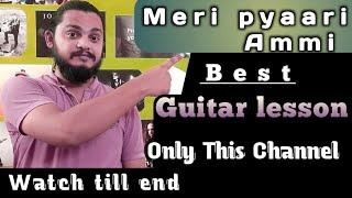 MERI PYAARI AMMI Guitar Lesson by Atharva Sharma   Secret Superstar   Meghna Mishra