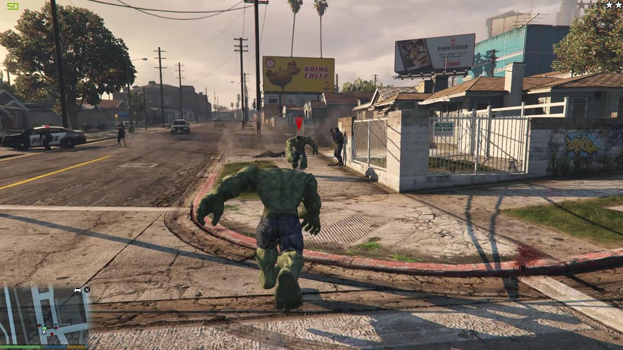 GTA V - The HULK enemy - HULK script mod by JulioNIB
