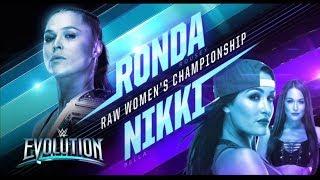 WWE 2K19 - Evolution: RONDA ROUSEY VS NIKKI BELLA (Raw Womens Championship)