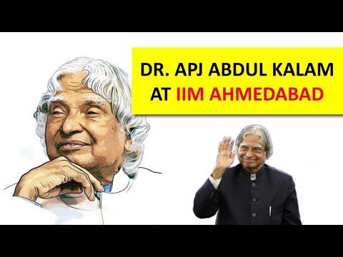 Dr A P J Abdul Kalam at Speaker Series PGPX IIM Ahmedabad