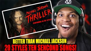Michael Jackson  Thriller | Ten Second Songs 20 Style Halloween Cover REACTION!!