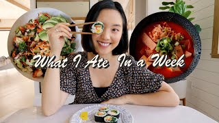 What I Ate In A Week (Realistic + Easy Korean Recipes)