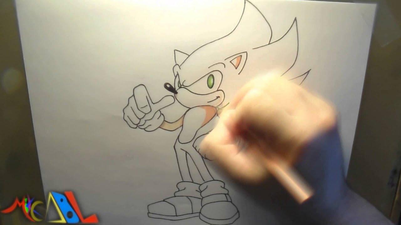 Dibujando a Super Sonic  YouTube