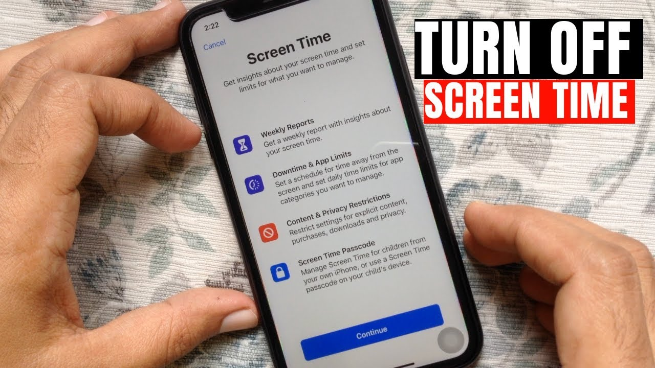 How to Disable Screen Time on iPhone - YouTube