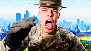 Drill Sergeant TROLLING in GTA 5! (GTA V Funny Moments)