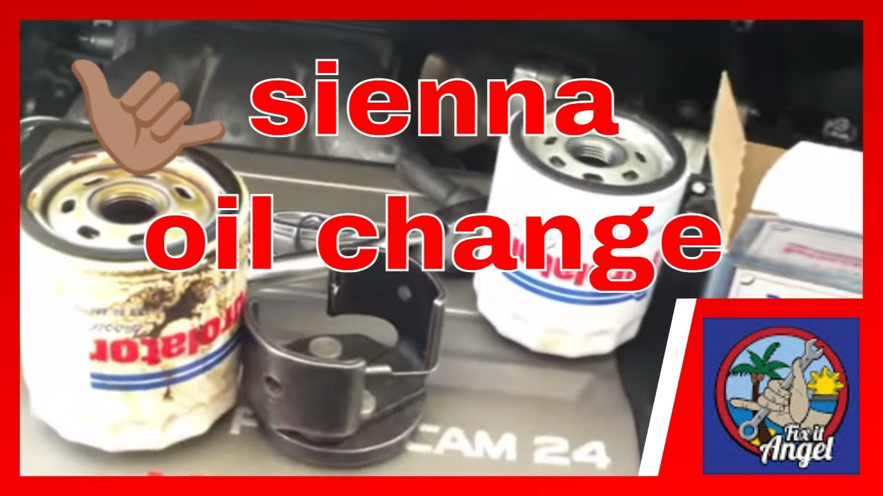 Toyota Sienna change engine oil and filter √ Fix it angel