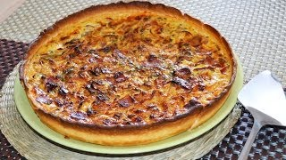 Bacon & Onion Quiche - Easy Quiche Recipe With No Heavy Cream