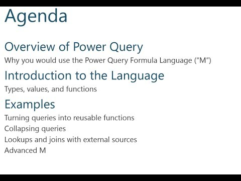 The Power Query Formula Language