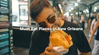"Video 5 ""Must Eat"" Places in NOLA // New Orleans, LA download MP3, 3GP, MP4, WEBM, AVI, FLV Juli 2018"