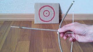 Как сделать лук и стрелы своими руками в домашних условиях из веток homemade mini bow wood