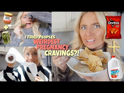 I Ate People's WEIRDEST Pregnancy Food Cravings!!